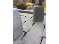 Kerb edging stones in charcoal X 50