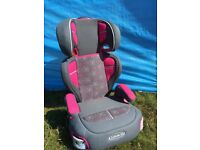 GRACO BOOSTER CAR SEAT/CHAIR, In very good clean condition, It has a removable/adjustable back rest