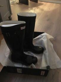 Ladies Hunter Boots black gloss