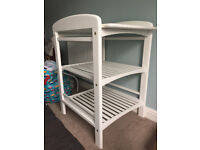 John Lewis White Wooden Changing Table