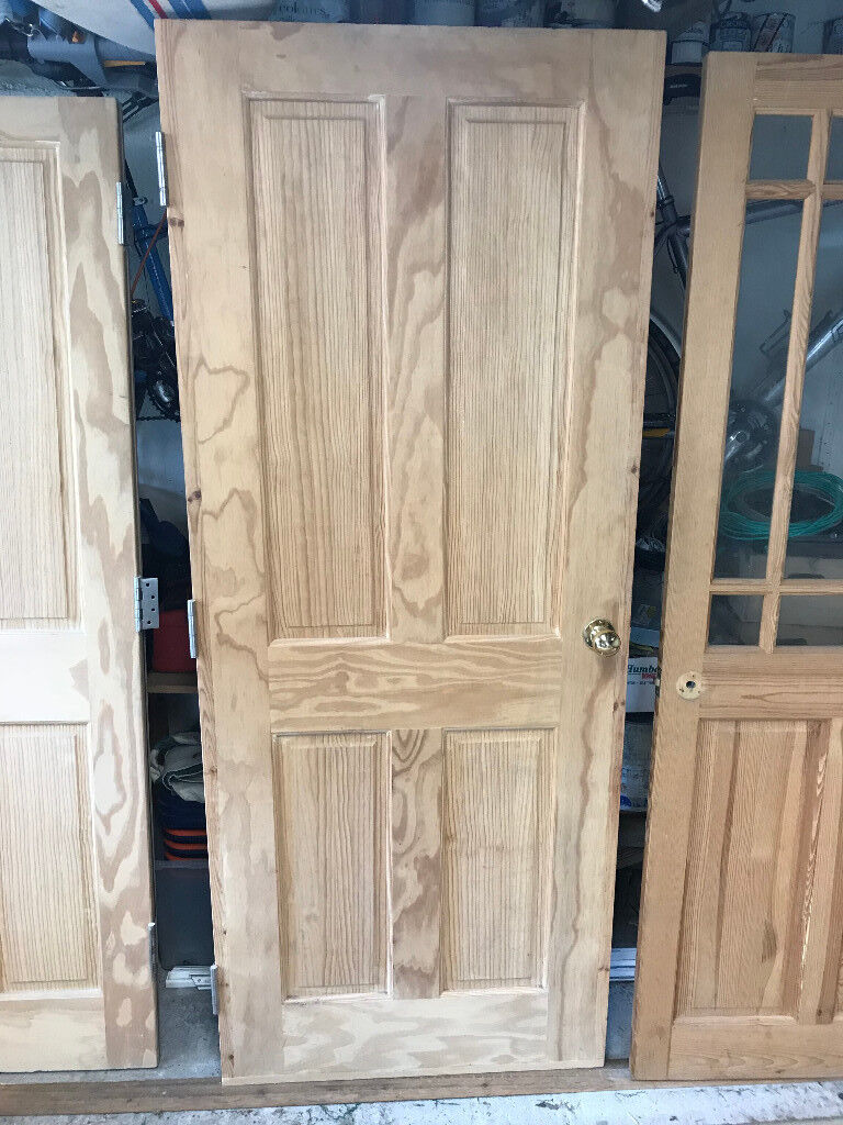 Victorian Style 4 Panel Clear Pine Interior Door Complete With