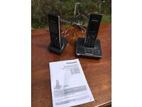 Panasonic cordless two hand set answer phone with instructions £30