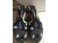 Asics Tigreon Rugby Boots. Size euro 44.5, us 10.5.