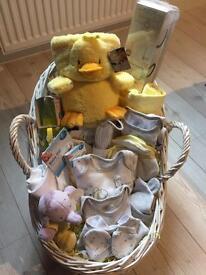 Unisex baby hamper yellow