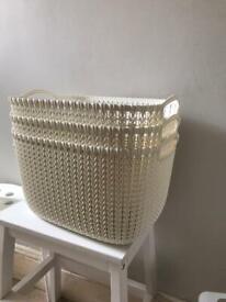 3 curver storage baskets