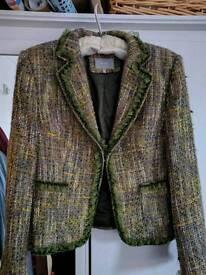 Women's Jacket, Per Una, green tweed style