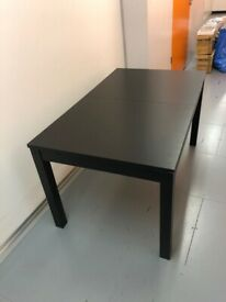 BJURSTA Extendable Table from IKEA in Black for sale