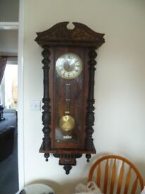 Vintage Mahogany Cased Wall Clock