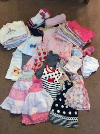 Little girls 3-6 months bundle of clothes.