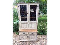 Upcycled Vintage Jaycee Writing Bureau Dresser Glazed Bookcase Shabby Chic