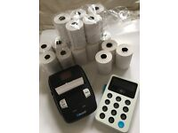 Izettle Card reader & mobile receipt printer/rolls