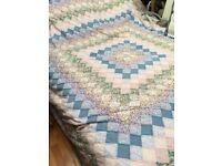 Lovely Hand made patchwork quilt. 250 X 236 cm