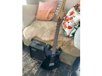 Yamaha erg 121 electric guitar and amp