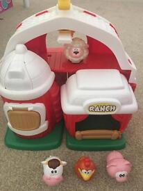Farm toy with animals