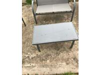 Patio garden furniture sofa coffee table and 2 chairs