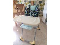 Chicco Polly double phase high chair.