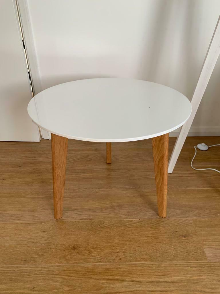 Asda George Round White Gloss Coffee Table In Folkestone Kent Gumtree