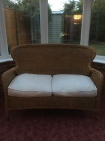 Wicker chair 2 seater