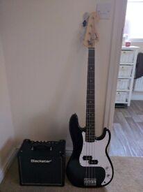Blackstar Ht1 reverb Guitar Amp - Squire P Bass