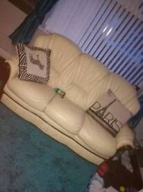 3 seater and 2 recliner chairs sofa £25
