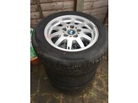 BMW e36 15inch Genuine Alloy Wheels Rims and Tyres (Style 28)