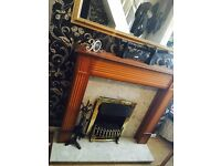 Marble fireplace with Electric heater