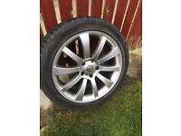 Vw Audi wheels and snow tyres