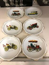 Plates with cars on