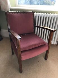 Refurbished small vintage armchair