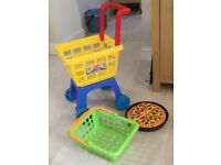Play Market stall, With Microwave, Trolley,Food, Etc