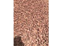 20mm red whin driveway/garden chips