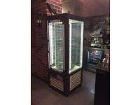 dessert / cake upright fridge in immaculate condition