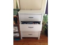 IKEA Brusali chest of 4 drawers, white