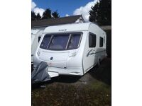 2007, ace jubilee courier caravan,6 berth ,selling with all equipment and awning
