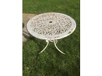Cast aluminium table 700mm