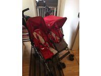 Maclaren twin double pushchair buggy great condition!