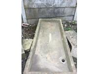 Huge stone reclaimed sink , garden feature