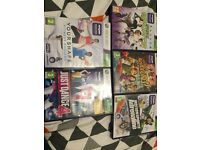 Xbox 360 Kinect sensor with 5 games (excellent condition)