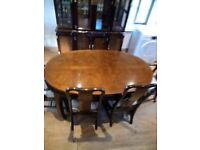 6 seater extending dining room table and sideboard