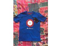 Ben Sherman boys/baby tshirt. Age 2-3. BNWT. Blue/branded logo