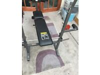 Selling weight bench incl weights