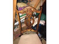 Lovely carved chairs for shabby chic project