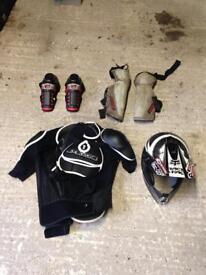 Mtb / mx body armour and helmet