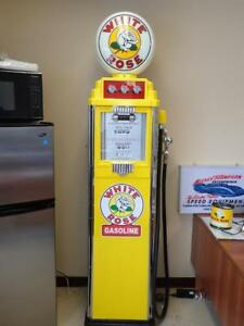 **OLD WHITE ROSE GAS PUMP EXCELLENT CONDITION  $8000
