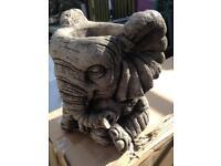 Concrete garden elephant plant pot 🐘