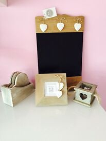Shabby chic rustic bundle of accessories brand new with tags