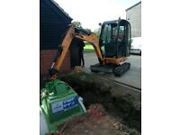 SUPERIOR MINI DIGGERS**MINI DIGGER AND DRIVER HIRE FROM £ 225.00 PER DAY ****