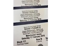 *LOWER TIER* George Groves Vs Chris Eubanks Jr Tickets Manchester Arena Saturday 17th February