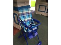 Baby High Chairs Two Available Blue & White in Excellent clean condition
