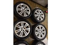 """17"""" GENUINE VAUXHALL ASTRA ZAFIRA VECTRA SRI ALLOY WHEELS SET OF 4 WITH TYRES"""